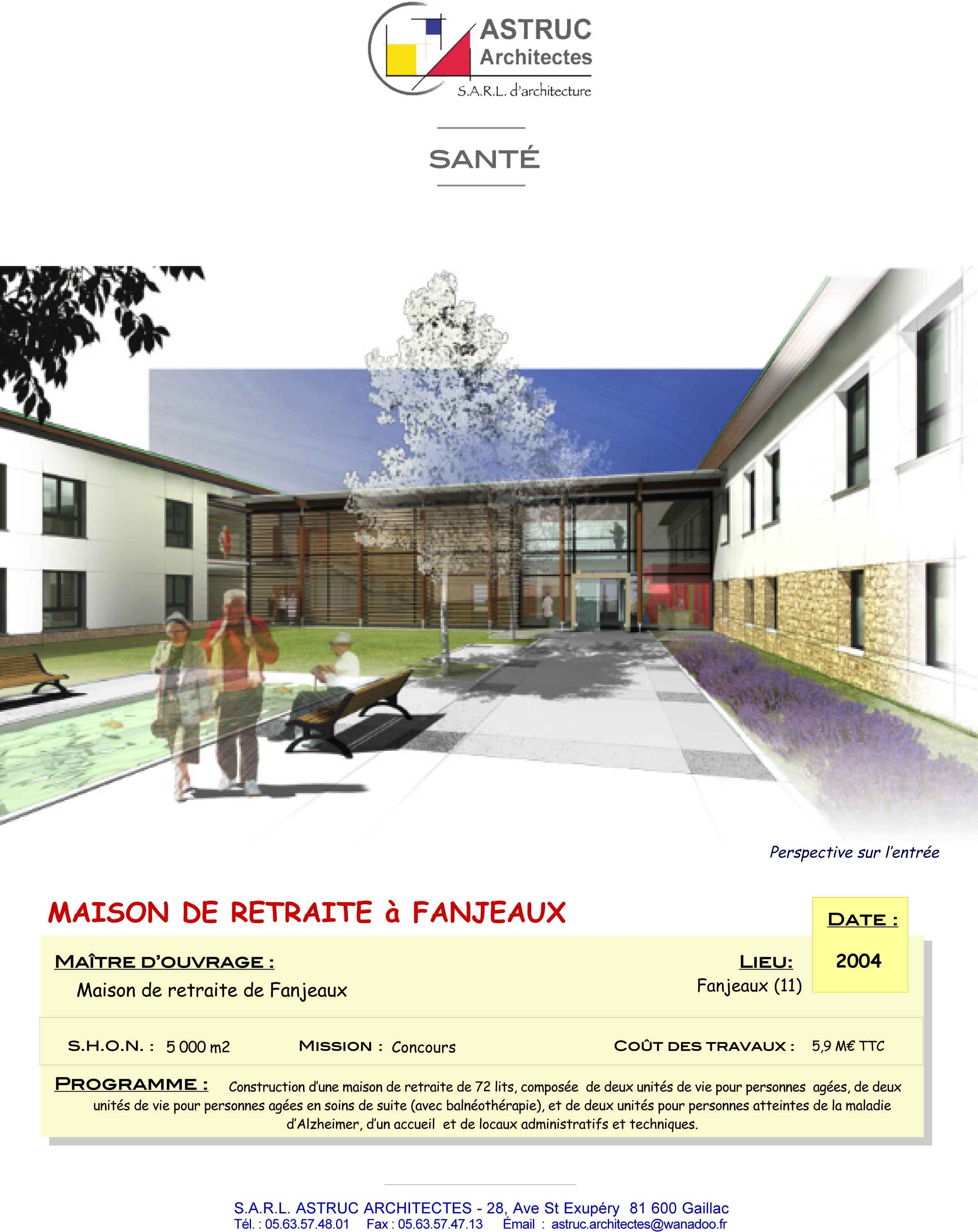 Cout construction maison retraite for Cout construction maison 150m2